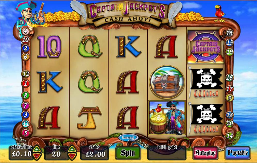 Captian Jackpots Cash Ahoy